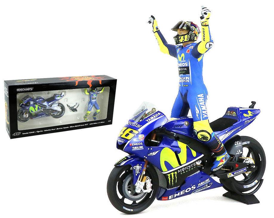 Minichamps Valentino Rossi Bike Figurine Yamaha Assen MotoGP 2017 - 1 12 Scale