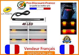 Bande-48-LED-STOP-ET-CLIGNOTANT-Etanche-Moto-Scooter-Clignotants-Harley-Davidson