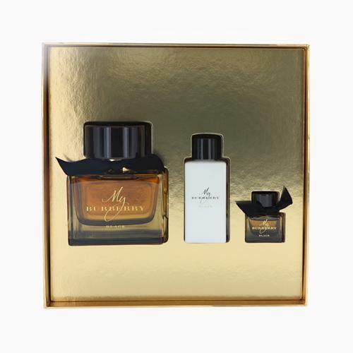 Burberry Mi Burberry Negro por 3 piezas Conjunto de Regalo - 3.0 oz Eau de Parfum Spray,...