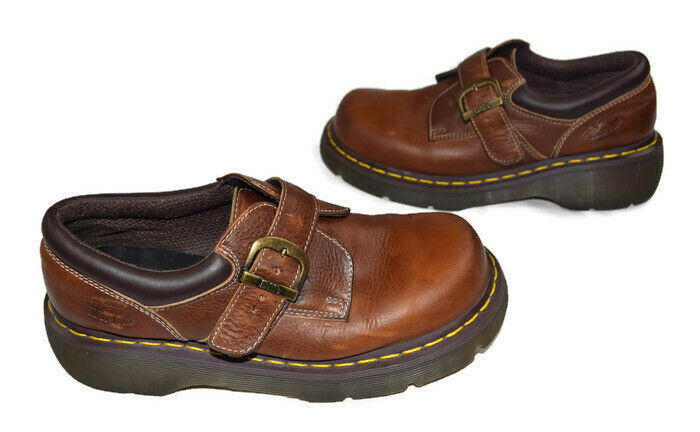 DR MARTENS Womens   US 8 AW004 Brown Monk Strap shoes Doc Martens