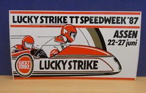 1x-Sticker-decal-Lucky-Strike-TT-ASSEN-1987-with-org-back-05568