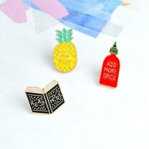 1pc-3pcs-Enamel-Pins-Pineapple-Spice-Bottle-Book-Read-Badges-Jewelry-Accessories