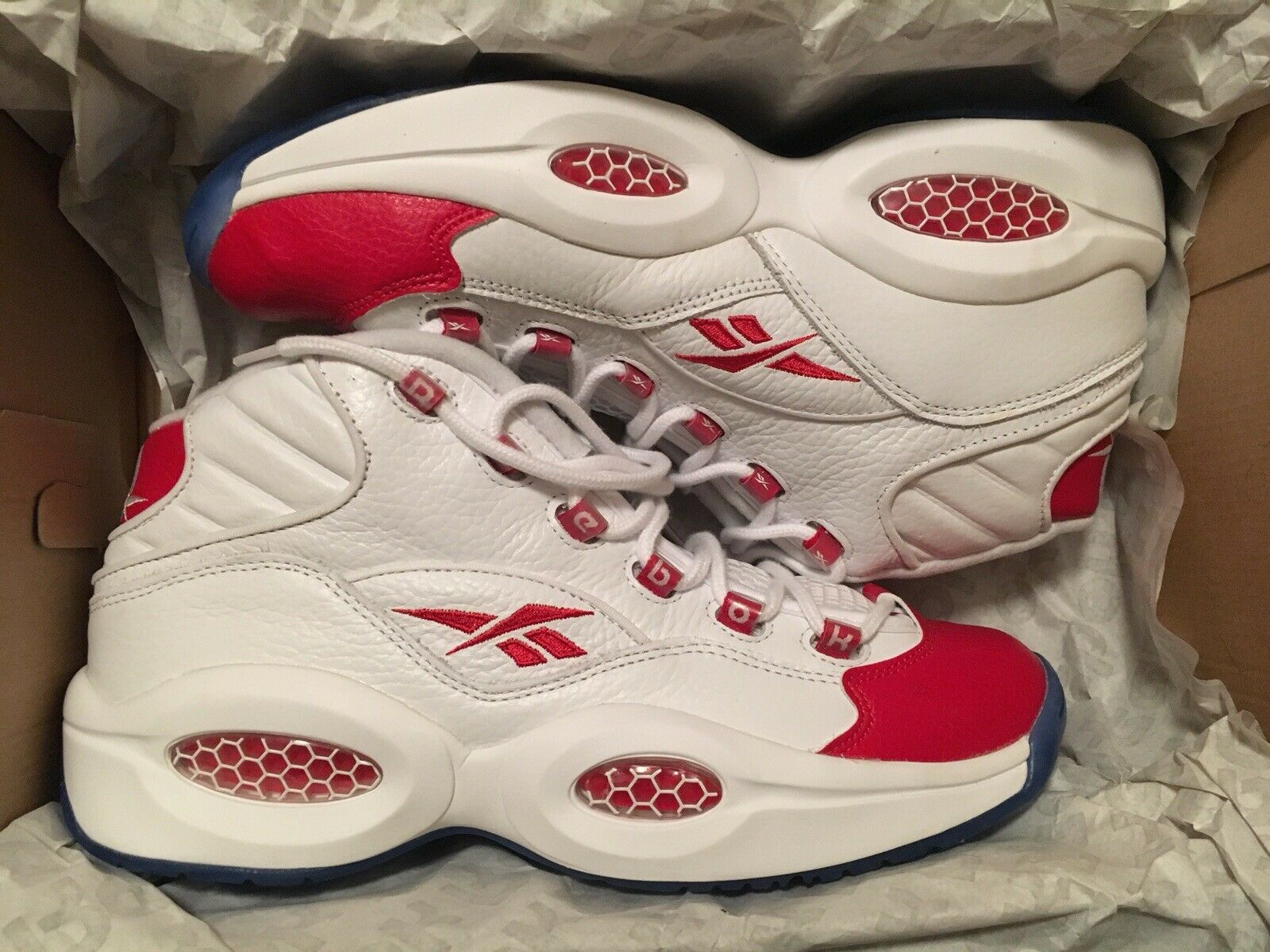 Reebok Iverson Question Red White 10.5