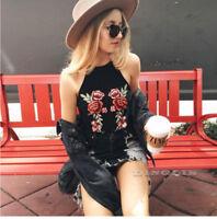 Summer Women Casual Halter Tank Top Vest Blouse Sleeveless Crop Tops Shirt Cami