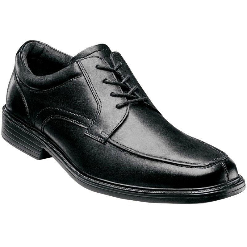 Florsheim Hombre Zapatos Negro de cuero de buey Rally Moc 11725-001