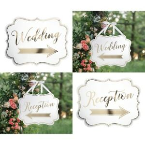 Wedding-Signs-Reception-Ceremony-Arrow-Direction-Directional-Hanging-Decorations