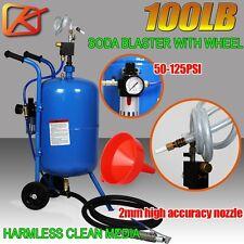 KENNER 100LB Portable Soda Blaster Pressure Abrasive Sand blaster Sandblaster