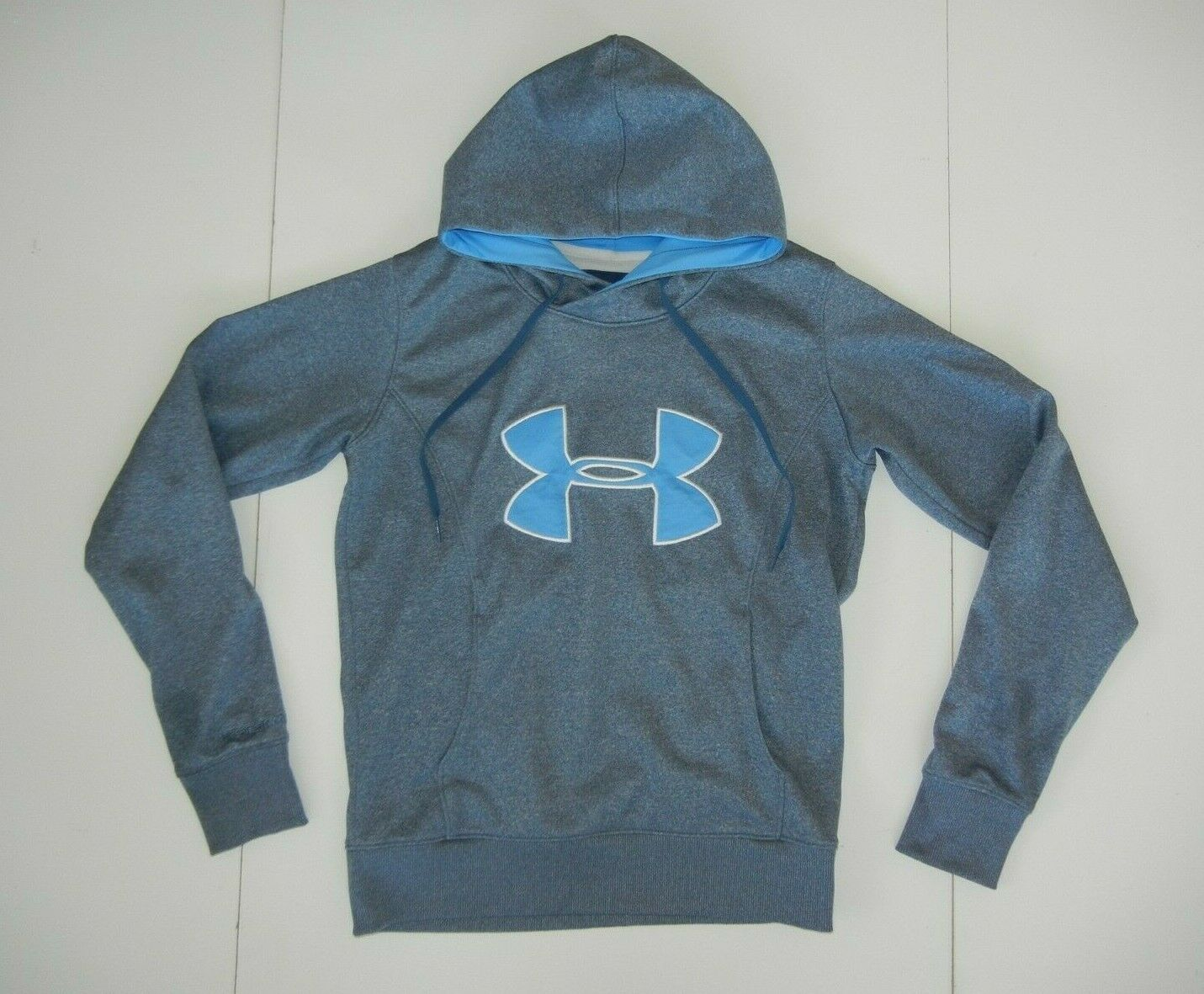 NWT MEN/'S UNDER ARMOUR BLUE COLDGEAR REACTOR STORM FITTED BLUE HOODIE JACKET MED
