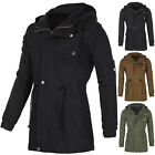 NEW Winter Fashion Mens Military Trench Coat Parka Cotton Casual Jacket Long XL