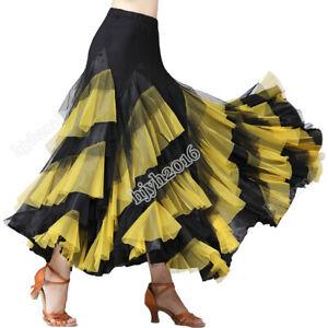 Ballroom-Dancing-Skirt-For-Women-Waltz-Tango-Foxtrot-Quickstep-Performance-Dress