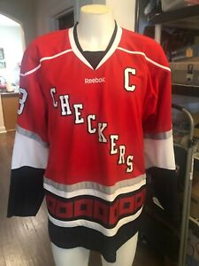 Charlotte Checkers XL  Hockey Jersey Hurricanes Carolina R. BURCH captains