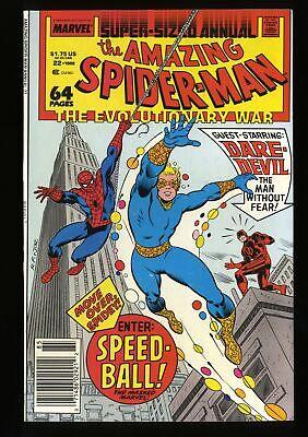 9.0 ENTER: SPEED-BALL - AMAZING SPIDER-MAN ANNUAL #22 1988