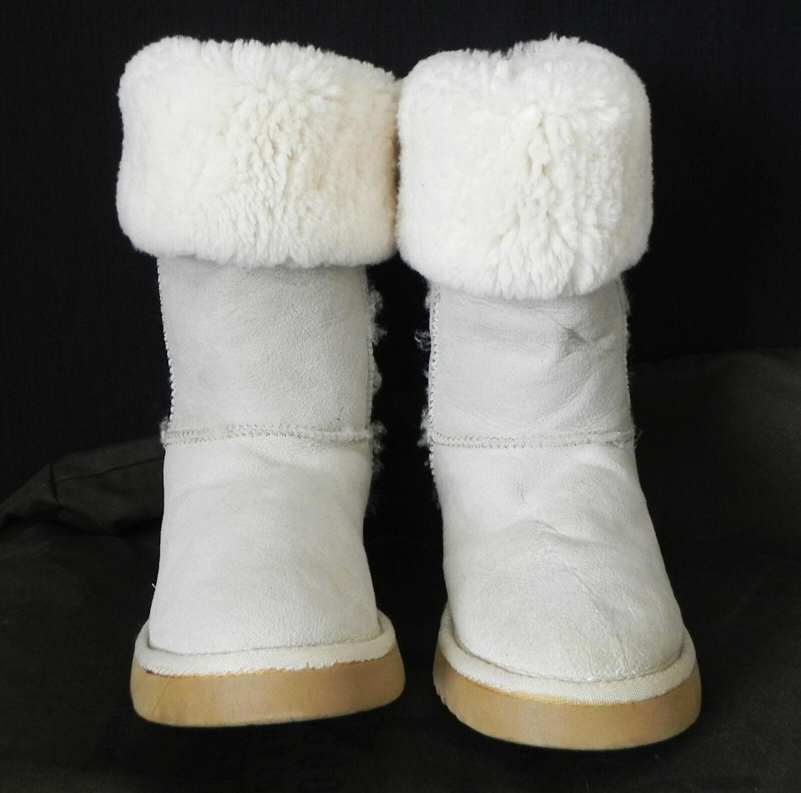 Sheepskin Boots Mid-Calf Beige/Heather Size Gray Size Beige/Heather 7M 343930