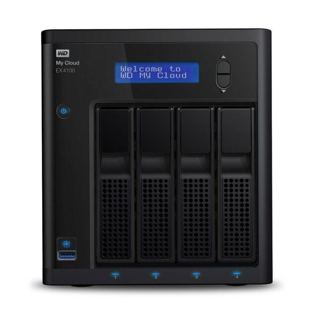 Western Digital WD My Cloud EX4100 4 Bay NAS 1.3GHz 32TB 2GB Network Storage