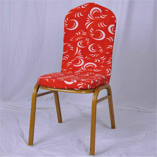 Dining Chair Cover Wedding Party Banquet Hotel Floral Seat Cover Stretch Spandex