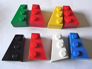 LEGO 2x3  wedge brick Left amp right x 3 pairs Part 6565 amp 6564 Choose your colour - Knutsford, United Kingdom - LEGO 2x3  wedge brick Left amp right x 3 pairs Part 6565 amp 6564 Choose your colour - Knutsford, United Kingdom