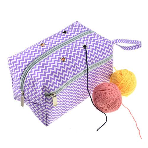 Portable Large Yarn Storage Bag Knitting Crochet Tote Organizer Holder Case ZX
