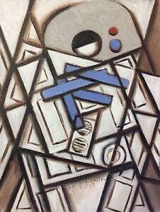 Details About R2 D2 Painting Star Wars Pop Art Original Painting For Sale By Artist Tommervik