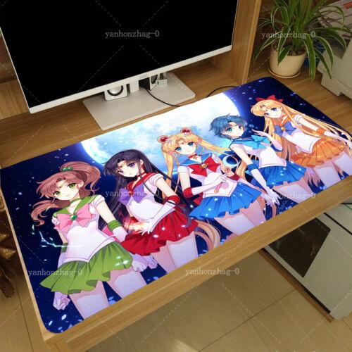 Anime Sailor Moon Tsukino Usagi Cosplay Large Mouse pad Playmat 40x70Cm #A14