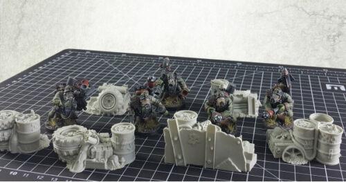 Orc Junk City Fuel and Ammo Piles 6 Bitz Bits  Kromlech Resin KRBK013