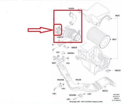 AIR FILTER FLOW INTAKE HOSE PIPE  MAZDA 3 1.6 CITD  Y642-13-220A  Y642-13-220B
