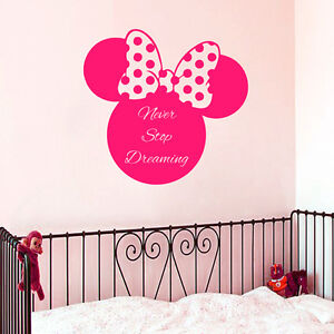 Image Is Loading Wall Decal Minnie Mouse Dream Vinyl Sticker