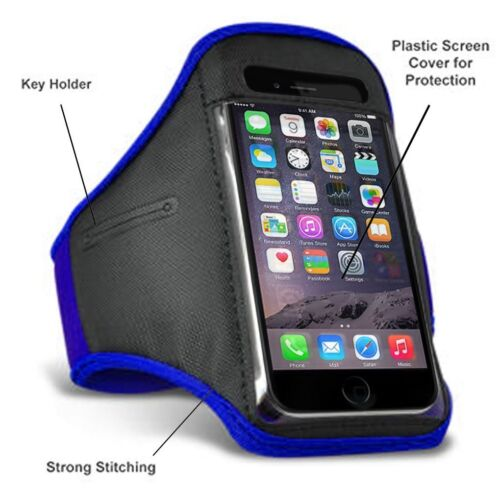 Blue Sports Running Jogging Gym Exercise Fitness Armband Case for iPod Touch 6