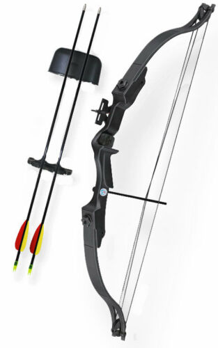 ASD Archery Childs Kids Compound Bow & Arrow Package Set 20 lbs Black