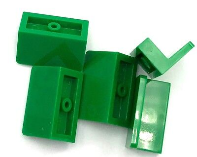 Lego 5 New Trans-Bright Green Panel 1 x 2 x 1 with Rounded Corners Pieces