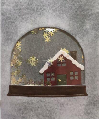 Brand New Winter House Christmas Snow globe Shaker Metal Die Cutter Uk Seller