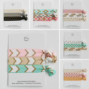 Elastic Ribbon Soft Hair Ties Bobbles Hairbands Wristbands Bracelets Cheap Sets