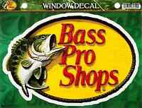 Bass Pro Shops Sticker Large 9in Fishing Decal