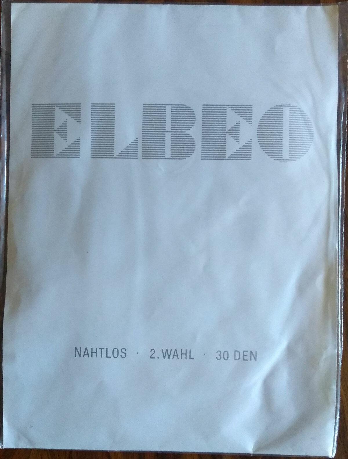 Nylonstrümpfe Vintage Elbeo nahtlos Rosette Größe 9 Original 60er Nylons