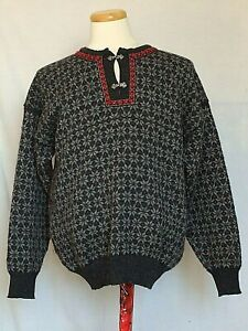 Uld Metal Sort Norway Strik Grå Stor Nordic Of Sweater Dale Dame Closure xw7FqA0vn