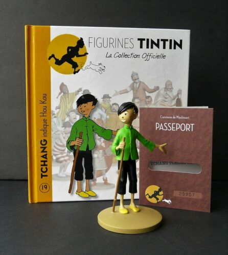 "LARGE TINTIN FIGURINE /""OFFICIAL COLLECTION/"" #08 TCHANG INDIQUE HOU KOU"