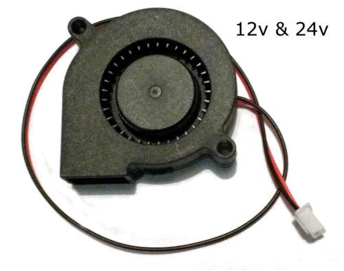 50mm Kühlung Blasen Lüfter 3d Drucker Radial Duct Fans 12v /& 24v Reprap