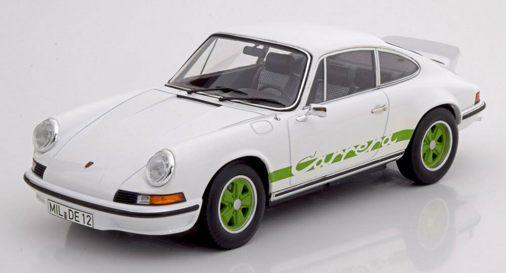 Norev 1973 Porsche 911 RS 2.7 Touring White with Green stripe 1 18 New Release