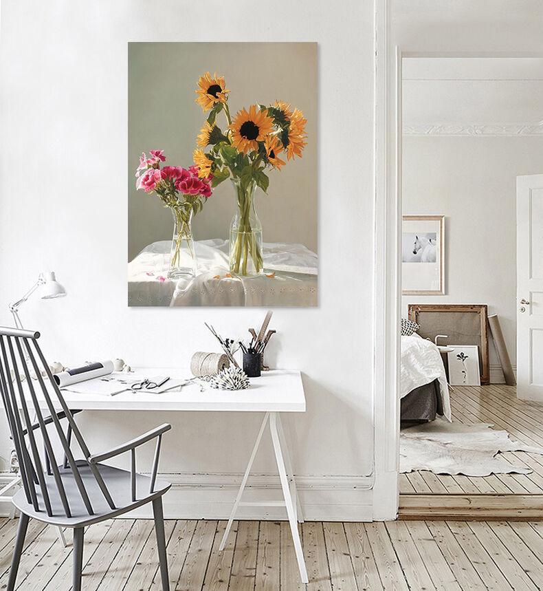 3D Helle Blüten Sonnenblueme 935 Fototapeten Wandbild BildTapete AJSTORE DE Lemon