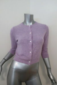 Jill-Roberts-Cashmere-Cropped-Cardigan-Sweater-Lavender-Size-Extra-Small