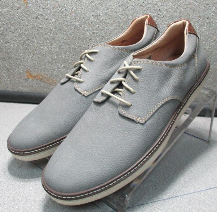 5910907 MS38 Men's Shoes Size 11.5 M Grey Leather Lace Up Johnston & Murphy