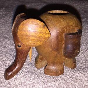 Carved-Wooden-Elephant-Figure