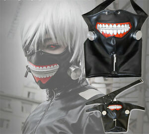 Cosplay-Tokyo-Ghoul-Kaneki-Ken-Adjustable-Zipper-PU-Leather-Mask-Prop-Costume