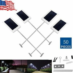 15W LED Solar Power Thin Waterproof Garden Wall Outdoor Street Light Lamp USA HM