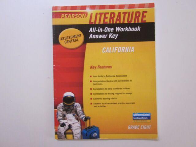 Pearson Literature Grade 8 All In One Workbook Answer Key California