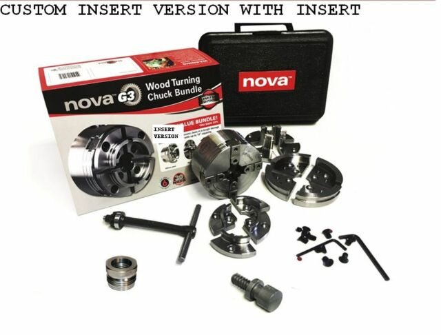 NOVA 48202 G3 WOODLATHE CHUCK  W// NCSC CHUCK SPUR /&  INSERT TO FIT YOUR LATHE