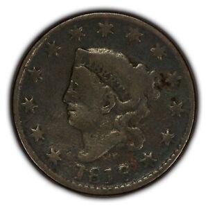 1818 1c Coronet Head Large Cent - Fine+ Details - SKU-Y2332