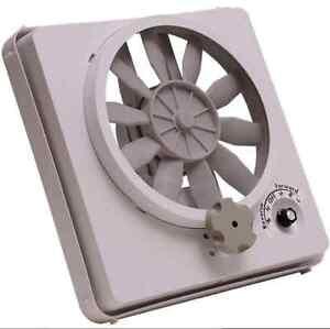 Rv Ceiling Fan 12v Volt Roof Vent Multi Speed Vortex Ii