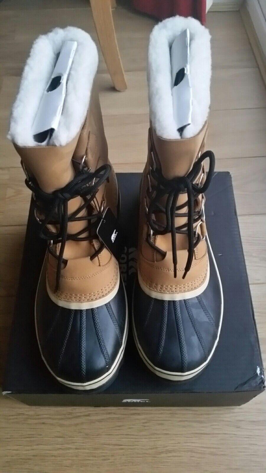 Sorel Caribou Caribou Caribou Lana Pelliccia Sintetica Stivali Uomo-Buff/chamios UK Taglia 9.5/nuovo con scatola. aa4eaf