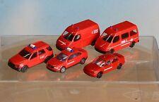 Busch und Rietze , Spur N,  Feuerwehr-Auto-Paket PKW / Transporter 5-teilig,