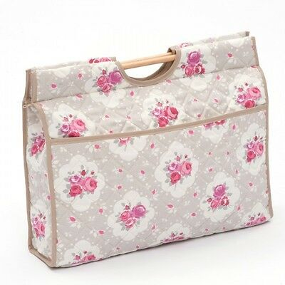 Classic Floral Roses - Taupe Premium Sewing Knitting Craft Bag